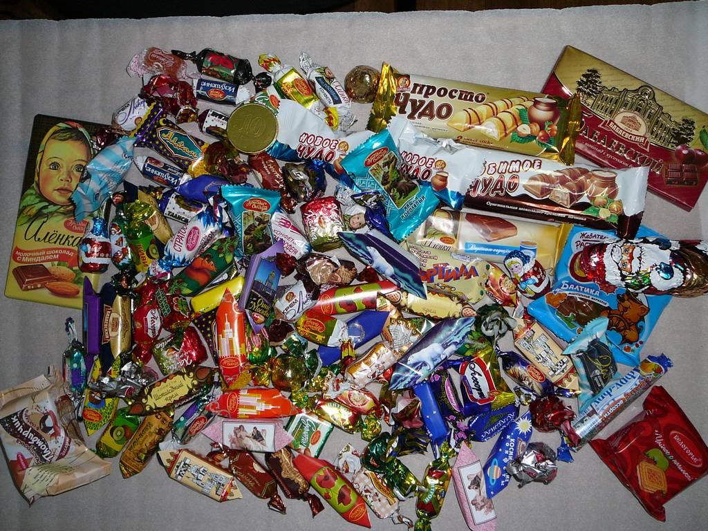 Состав детских Новогодних подарков СладКо конфеты 29